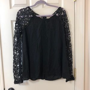 Alterd state black blouse with lace sleeves